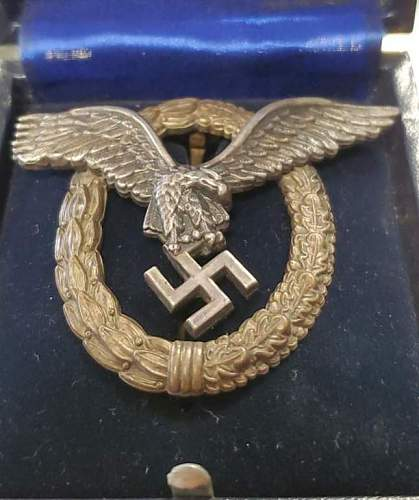 Flugzeugführerabzeichen - Luftwaffe Pilots badge - What do you guys think?