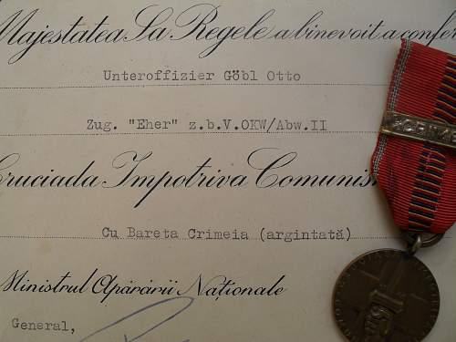 Brandenburg document and medal