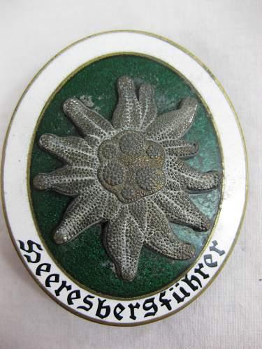 Heeresbergfuhrer Badge. Real/Fake?