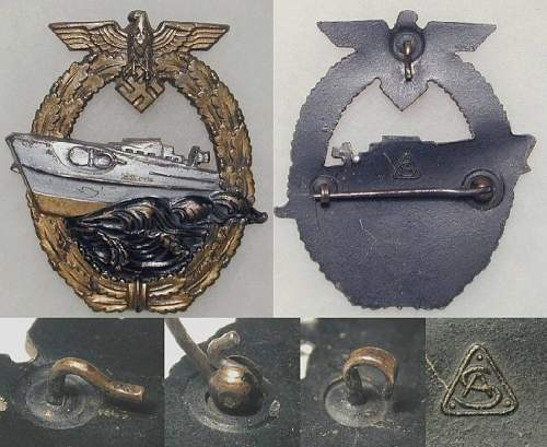 Kriegsmarine Schnellboot-Kriegsabzeichen.
