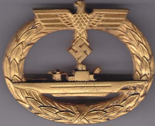 U-Boot Kriegsabzeichen.