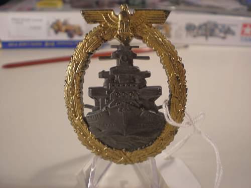 Mein Kriegsmarine Abzeichen.
