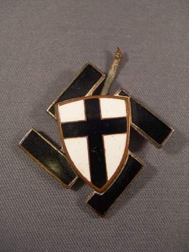 Swastika/Teutonic Shield badge???
