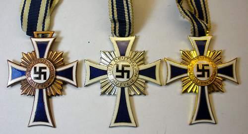 Ehrenkreuz der Deutschen Mutter - Bronze, Silber, Gold