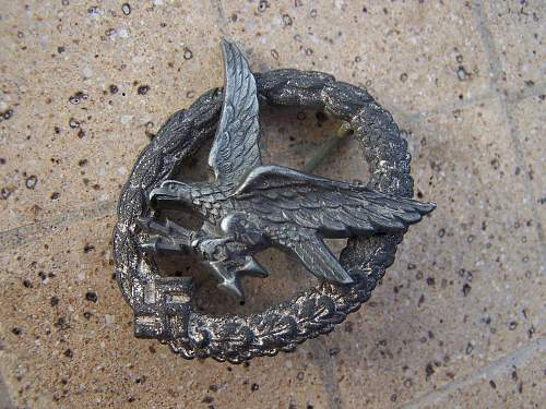 Click image for larger version.  Name:luft gunner badge .......................jpg Views:135 Size:268.2 KB ID:175372