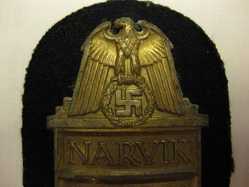 Gold Narvik Shield. Thoughts? Ade?:)