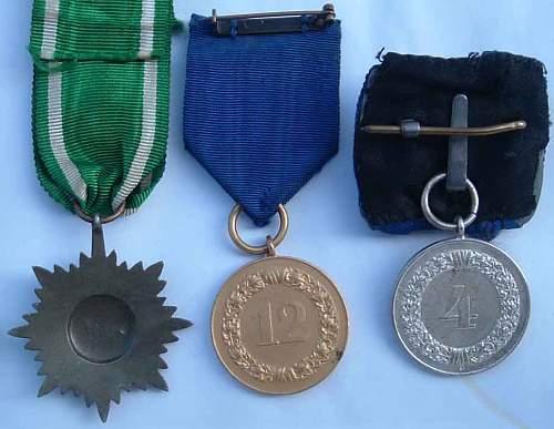 3 Medal Convolute & More
