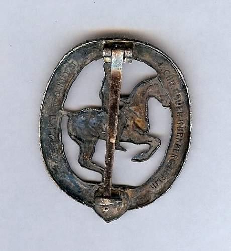 Opinion: Reiterabzeichen in silver