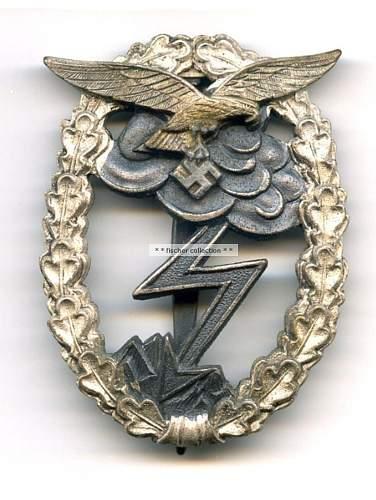 Luftwaffe Erdkampfabzeichen - Opinions please