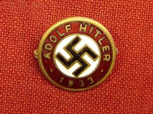 NSDAP Parteiabzeichen opinion on being fake?