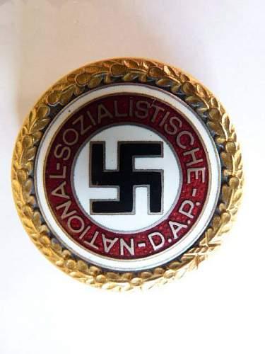 Goldenes Parteiabzeichen, real or fake?