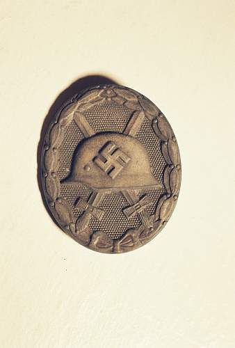 German silver wound badge with engraving