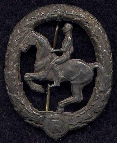 Reiterabzeichen - Silber