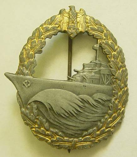 Click image for larger version.  Name:Destroyer war badge.jpg Views:60 Size:160.2 KB ID:192487