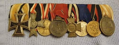 Help with 8 medal bar set