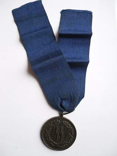 SS 4 Year Service medal