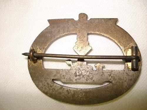 """U-Boots Kriegsabzeichen by """"Fo""""."""