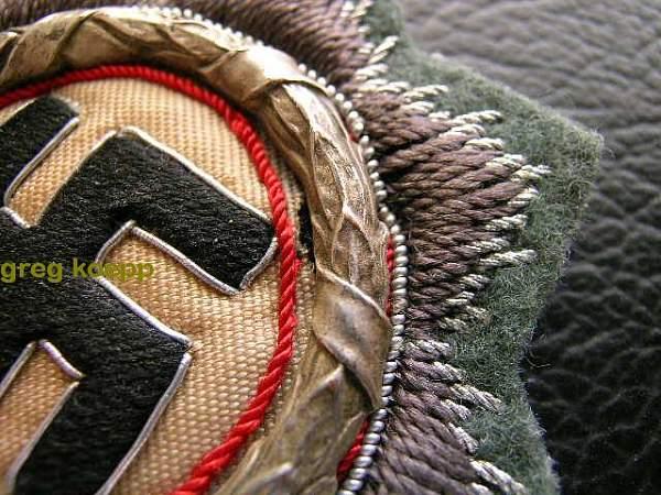 My new cloth Deutsches Kreuz in silver