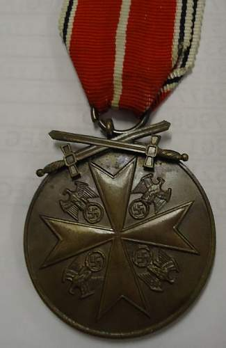 WWII Order of the German Eagle with Swords, help needed