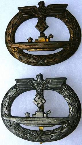 Two U-Boot Kriegsabzeichen?