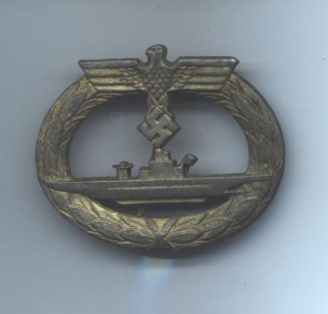 U-Boat Badge/ U-Boots-Kriegsabzeichen