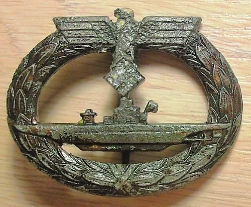 U-Boots Kriegsabzeichen - Wiedmann