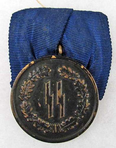 Ss parade 4 year service medal,,,good or bad?