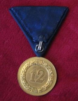 Luftwaffe Long Service medal Austrian mounted