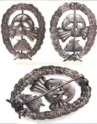 Condor legion tank badge fake?