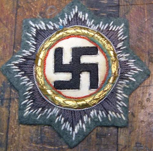 DeutschesKreuzin order of teh german cross/gold/cloth opinions