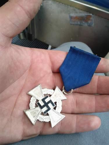25yr sevice medal!