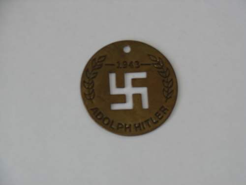 German Adolph hitler disc and a HJ tinnie