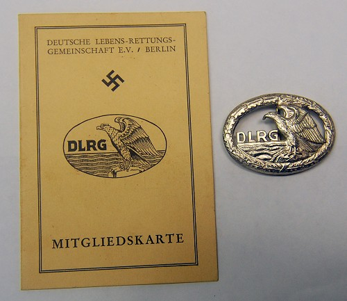 DLRG Lifesaving Badge and Booklet