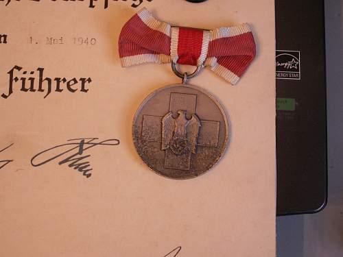 Medal for Volkspflege. Original?