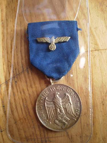 wehrmacht 4 year long service medal.