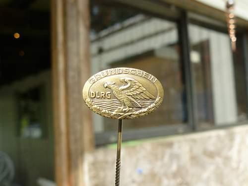 Grundschein eagle stick pin marked dlrg