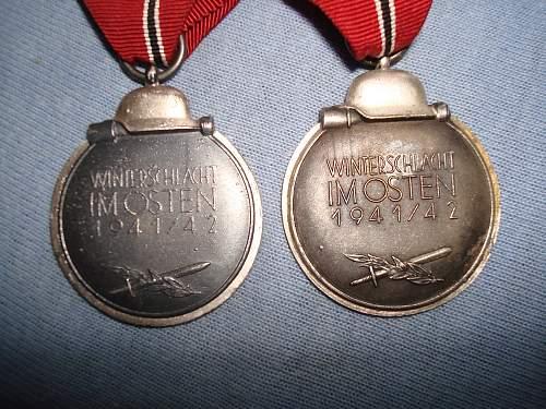 My first 2 Ost medaille/Winterschlacht im Osten
