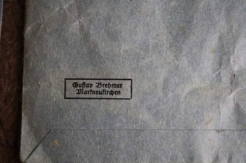 Mutterkreutz 1.-3. stufe and a miniature.