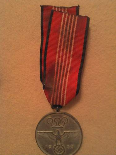 1936 Olympic Medal, is it the real deal?