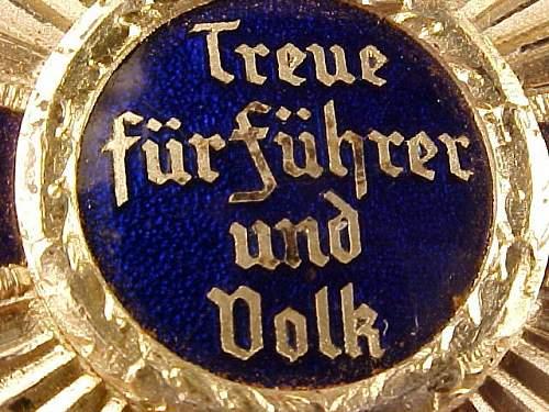 NSDAP-Dienstauszeichnung: Real or Fake?