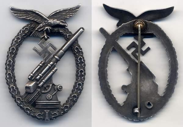Click image for larger version.  Name:Luftwaffe Flak Badge.jpg Views:52 Size:75.2 KB ID:24659
