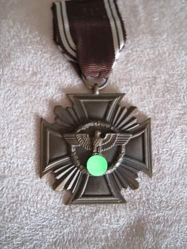 NSDAP Long Service Award in bronze Original?
