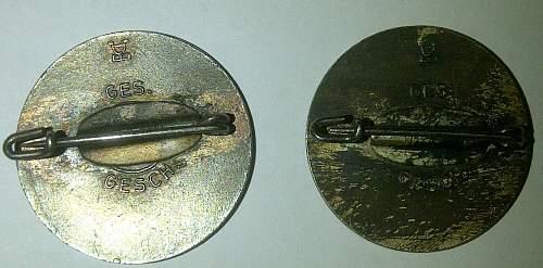 """""""Reichs luftschutz"""" pins"""
