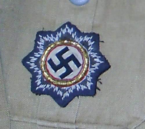 Deutsches Kreuz in Gold: cloth active service version