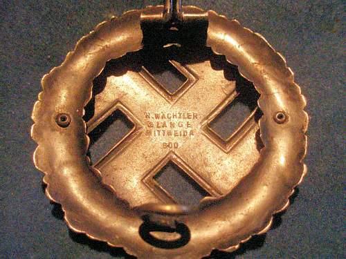 1923 Gau Badge