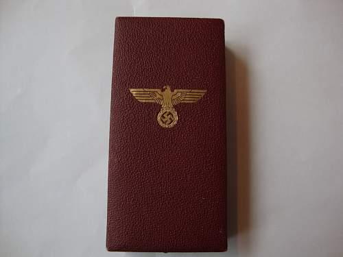 Cased Sudetenland medal
