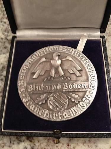 Cased.. Blut und Boden Table Medal....