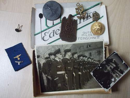 Group of badges and pins, e.t.c.