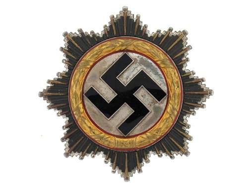Deutsche Kreuz in Gold - Named to 'Udo Panter'.