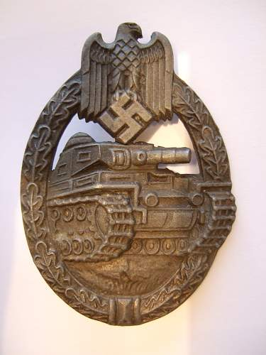 Ferdinand Wiedmann Panzerkampf Abzeichen